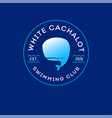 logo white cachalot swimming diving club vector image