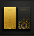 luxury mandala business card design vector image