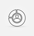 man in pie chart icon vector image vector image