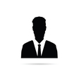 man silhouette with tie vector image