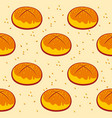 pastry pattern cinnamon roll print bakery vector image