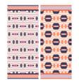 pink aztec beach towel print vector image vector image