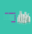 realistic cosmetic bottle advertising vector image vector image