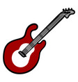 red guitar on white background vector image vector image