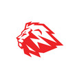 red lion logo vector image