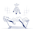 relax in the bathroom vector image vector image