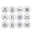 robotics mechanical engineering robots icons vector image vector image