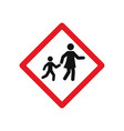 school zone signs vector image