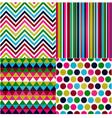seamless stripes zigzag polka dot vector image vector image