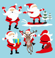 set of santa clauses vector image