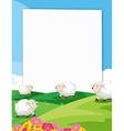 Sheeps Banner vector image vector image