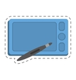 smartphone technology pen digital touchscreen vector image vector image