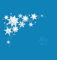 snowflakes paper cut corner vector image vector image