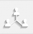 social media marketing sign white icon vector image vector image