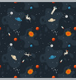 space seamless pattern background cute template vector image