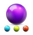 sphere ball orb shining glow crystal vector image