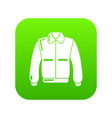 varsity jacket icon green vector image vector image