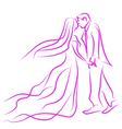 wedding in love vector image vector image
