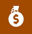 white money bag vector image