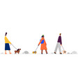 with people on a walk vector image vector image