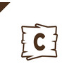 wooden alphabet or font blocks with letter c vector image vector image
