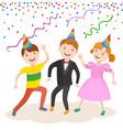 celebrating the birthday cute cartoon boy vector image