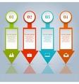 Set of infographic design elements vector image