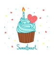 cake background Hand drawn food Template vector image