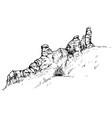 sketch of rocks vector image