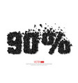 90 percent abstract sale sign vector image vector image