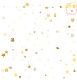 abstract pattern of random falling gold stars on vector image vector image