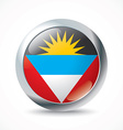 Antigua and Barbuda flag button vector image vector image