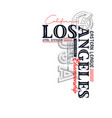 athletic los angeles typography for t-shirt vector image vector image