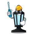 automotive street lamp mascot cartoon vector image