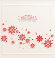 awesome red snowflakes merry christmas background vector image vector image