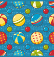 balls childs toy seamless pattern vector image