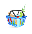 Basket with food vector image vector image