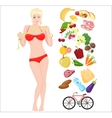 Beautiful sport Thin and Health female woman vector image vector image