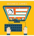 Business gamification Making money as a game vector image