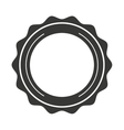 circle seal frame icon vector image vector image