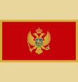 close up flag montenegro vector image vector image