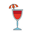 cocktail with umbrella icon image vector image vector image