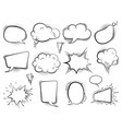 comic bubbles speech cartoon balloons talk retro vector image