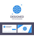 creative business card and logo template cosmos vector image vector image