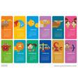 creative wall calendar 2020 with signs zodiac vector image vector image