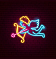 cupid neon sign vector image