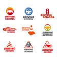 driving school logo vector image