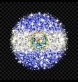 el salvador flag sparkling badge vector image