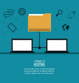 file hosting technology vector image vector image