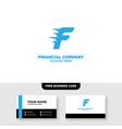 financial logo template accounting logo template vector image